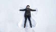 Girl In The Snow Angel Shows ....
