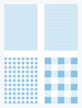 Blue Gingham Pattern Background