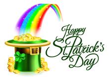 Leprechaun Hat Rainbow Happy S...