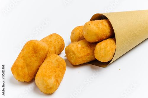 Crocchette di patate nel cono Fototapet