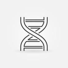 Double Helix Minimal Icon. Vector DNA Symbol