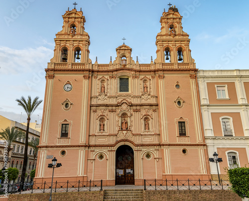 View of Huelva cathedral in Andalusia, Spain.