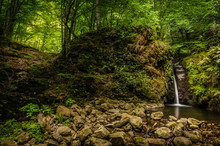 Waterfall In Carpathian Mounta...
