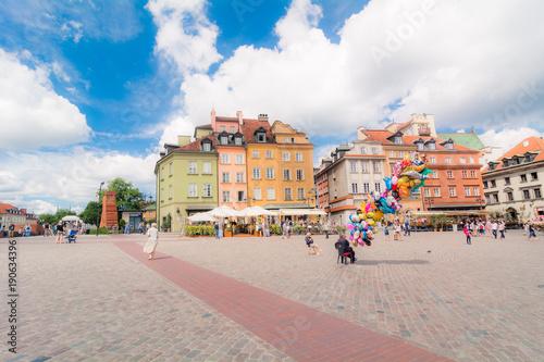 Fotografie, Obraz  Strade del centro storico di Varsavia, Polonia