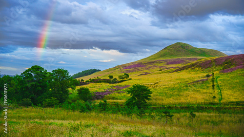 Fotobehang Heuvel East Lomond Hill Fife Scotland uk