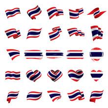 Thailand Flag, Vector Illustration