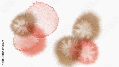 Fotografia, Obraz  pastel tone color abstract watercolor drop vector background -
