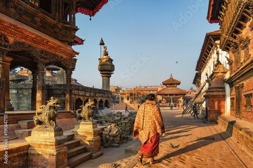 Wall Murals Nepal Bhaktapur Durbar Square in Morning Light, Nepal