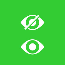 Hide, Show Vector Icons With Eye