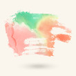 Abstract rainbow watercolor