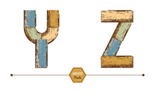 Vector Graphic Alphabet In A Set YZ
