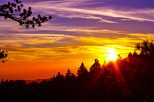 Sunset Idyllwild California