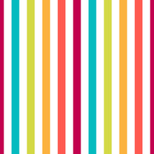 Seamless Pattern Stripe Colorful Pastel Colors. Vertical Pattern Stripe Abstract Background Vector Illustration