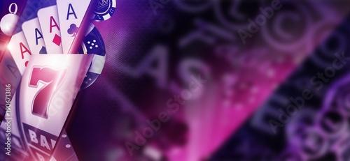 фотография  Purple Casino Banner Concept