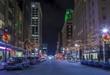 City center of Raleigh, North Carolina at night.
