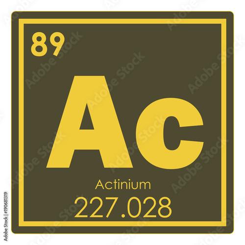Actinium chemical element Canvas Print