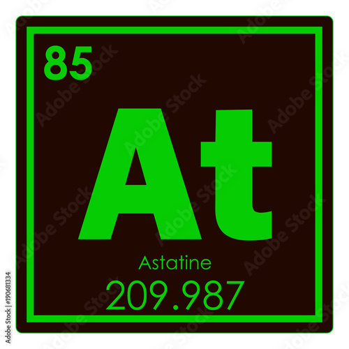 Astatine chemical element Wallpaper Mural