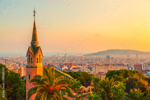 Photo sur Toile Barcelona Park Guell