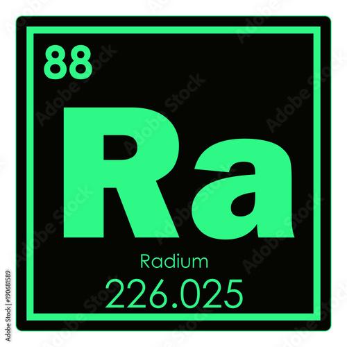Radium chemical element Wallpaper Mural