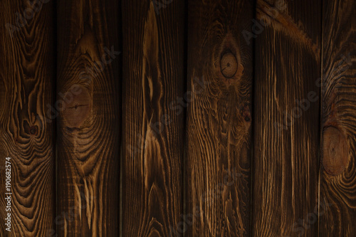 Tuinposter Hout wooden broun background - square format