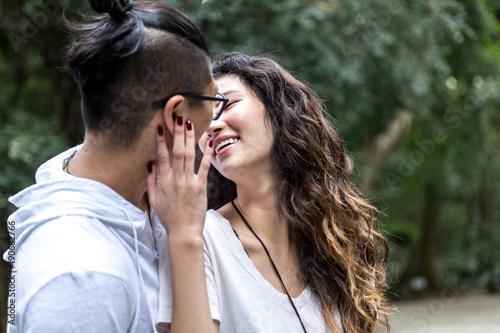 Fotografia, Obraz  Young Asian Couple Enjoying an Intimate Moment