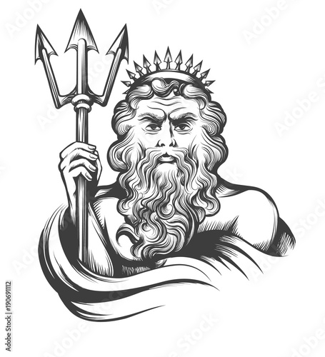Photo  Neptune with Trident