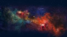 Space Illustration With A Colo...