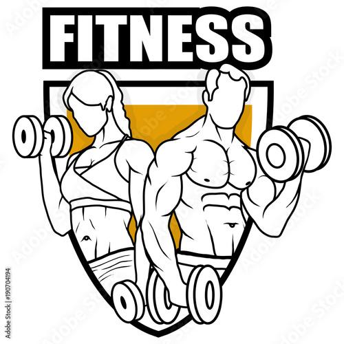 Fitness Center Gym Emblem Fitness Logo Health Center Logo Shield