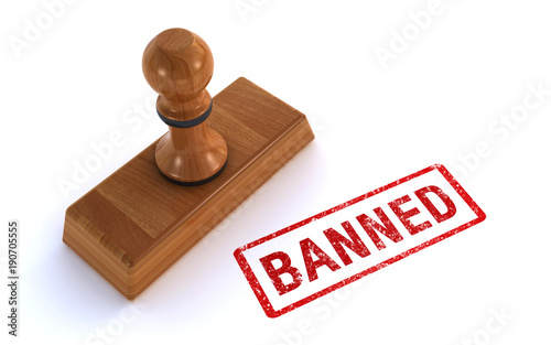 Spoed Foto op Canvas Canada rubber stamp banned