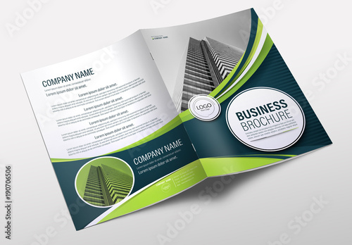 Brochure cover layout with blue and green accents 13 buy for Buy brochure templates
