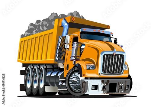 Vector Cartoon Dump Truck © Mechanik