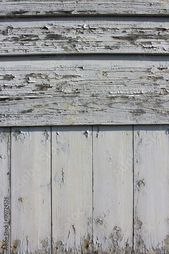 Fotografia, Obraz  Paint peeled old wooden siding near the seashore