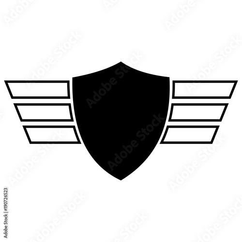 Obraz na plátně wing shield design vector