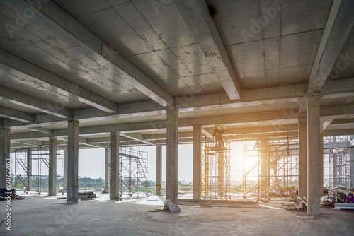 concrete structure construction site no body for background Fototapet