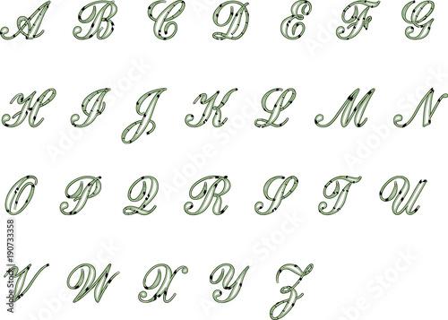 English alphabet design - Buy this stock illustration and explore