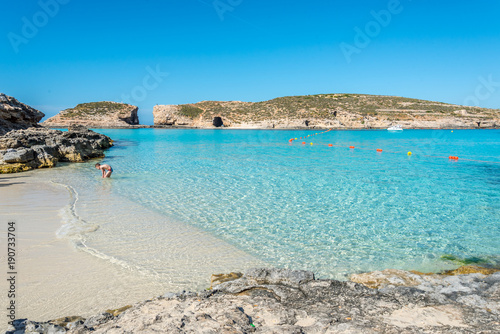 The beautiful island of Comino, Malta