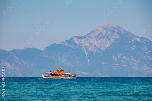 Valokuva  Sea Greece Mount Athos Ship Touring