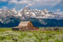 Old Barn In Grand Teton Mounta...