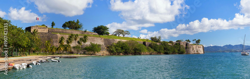 The Fort Saint Louis, Martinique island , French West Indies. Wallpaper Mural