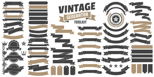 Photo Vintage Retro Vector Logo for banner