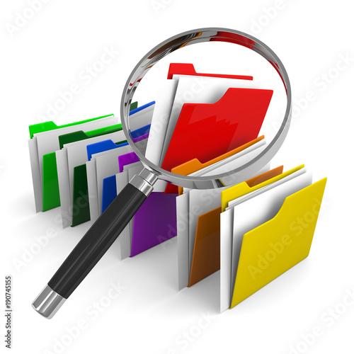 Fotografía  look for documents