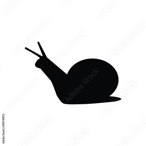 Photo Simple snail silhouette