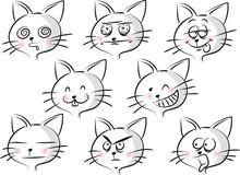 Cartoon Cat's Face