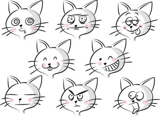 cartoon cat's face