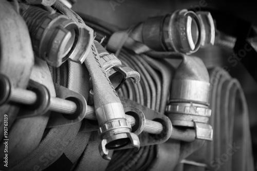 Valokuva  matériel de pompier , tuyaux de pompier