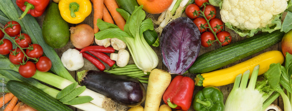 Fototapety, obrazy: Biogemüse vom Bauernmarkt
