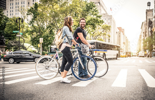couple of new yorkers on their bikes