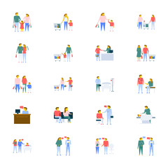 People Vector Icons Collection In Flat Design
