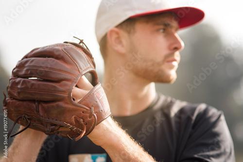Fotografía  concentration avant l'action(Baseball)