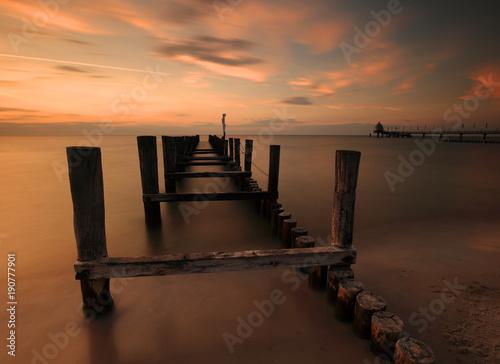 Foto-Schiebegardine Komplettsystem - ~~ old jetty ~~